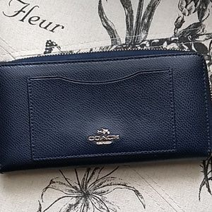 Coach Bags - Coach Navy Wallet